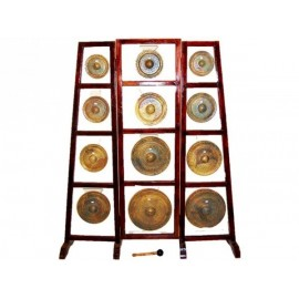 12 GONGS + STAND + MALLET
