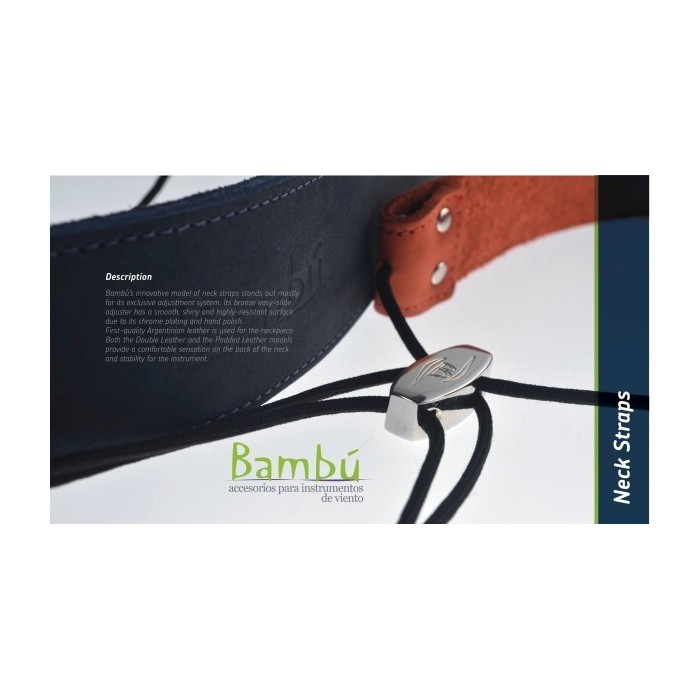 BP CLARINET NECK STRAP DOUBLE LEATHER (various colours)