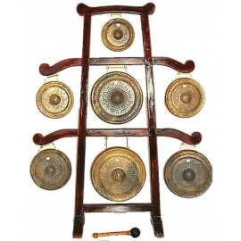 7 GONGS + STAND + MALLET